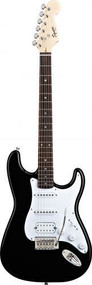 Squier by Fender Bullet with Tremelo HSS - Black(Refurbished)