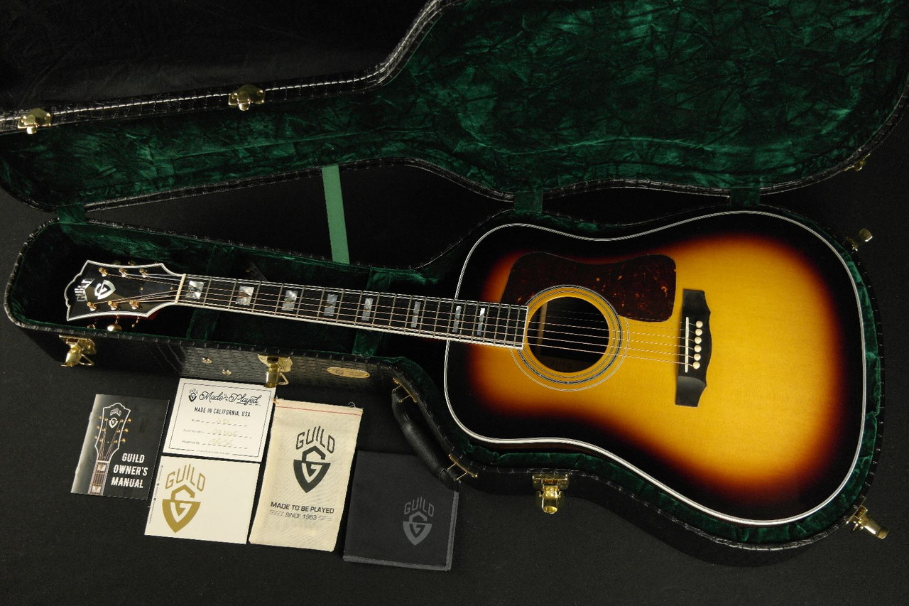Guild USA D-55 Antique Burst with Case - HANDMADE in CALIFORNIA!