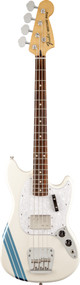 Fender Pawn Shop Mustang Bass Rosewood Fingerboard Olympic White with Stripe
