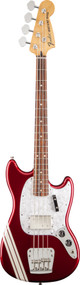 Fender Pawn Shop Mustang Bass Rosewood Fingerboard Candy Apple Red with Stripe