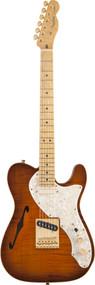 Fender Select Thinline Telecaster with Gold Hardware Birdseye Maple Fingerboard Violin Burst 0170317833