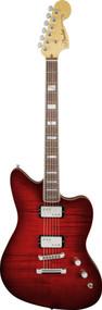 Fender Select Carved Maple Top Jazzmaster HH Rosewood Fingerboard Cayenne Burst