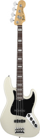 Fender American Deluxe Jazz Bass Rosewood Olympic White 0194580705