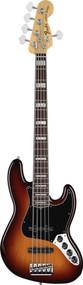 Fender American Deluxe Jazz Bass V Rosewood 3 Tone Sunburst 5 String Bass Guitar
