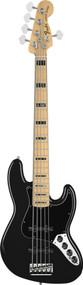 Fender American Deluxe Jazz Bass V Maple Black 5 String Bass Guitar 0194692706