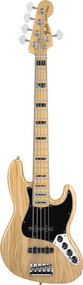 Fender American Deluxe Jazz Bass V Maple Natural Ash 5 String Bass Guitar