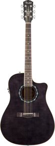 Fender T-Bucket 300CE Rosewood Fingerboard Transparent Black Flame Maple