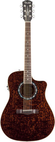 Fender T-Bucket 300CE Rosewood Fingerboard Transparent Dark Brown Quilt Ash