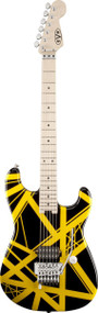 EVH Striped Series Maple Fingerboard Black with Yellow Stripes 5107902528