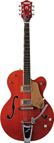 Gretsch G6120SSL Brian Setzer Nashville with TV Jones Pickups - Orange Tiger Flame (2400110812)