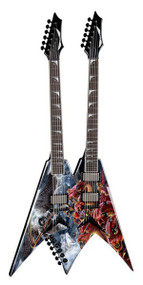 DISCONTINUED - Dean V Dave Mustaine Double Neck - Diadem w/c