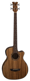 DISCONTINUED - Dean Exotica A/E Bass w/Aphex® - Zebra Wood