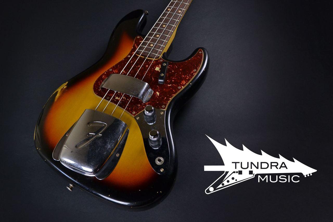 Fender Custom Shop 1960 Jazz Bass Relic - Faded 3-Tone Sunburst