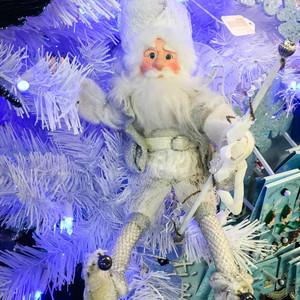 """White Santa Elf, 12"""""""
