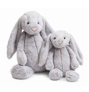 BASHFUL BUNNY Grey Medium 12 in