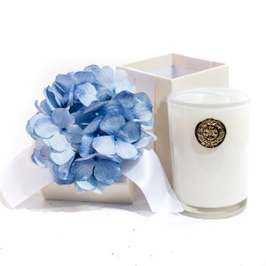 Blue Hydrangea 8oz Scented Candle Gift Box