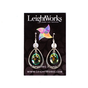 Fire-Polished Sterling Silver Loop Earrings