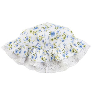 Blue Floral Print Sun Hat by Mud Pie