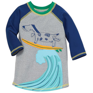 Surfing Dog Rash Guard, 50 SPF