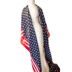 Sheer American Flag Scarf