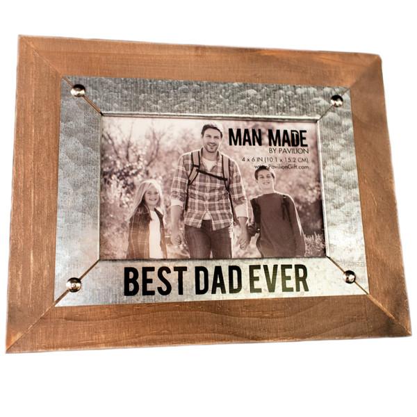 """Best Dad Ever"" 4 x 6 Photo Frame"