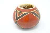 V-pattern gourd  Hand carved uncured gourd for drinking Wild Harvest Yerba Mate the traditional way. Hot & Strong. We also use it to drink any kine of Green or Black tea (Camilla Sinensus)
