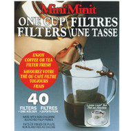"40 Count Mini Filters  Save money by purchasing loose leaf product, but still enjoy the convenience of 1-cup brewing with a ""tea bag""!Place bag with handy holder over rim of cup. Add yerba mate of choice and pour directly over the yerba. Fresh hot filtered brewed yerba mate."