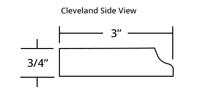 Cleveland Master Bath Mirror Frame Profile