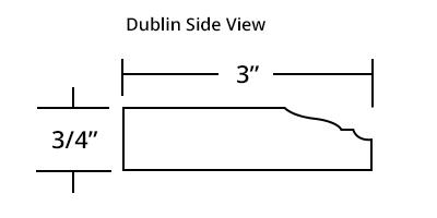 Dublin Master Bath Mirror Frame Profile
