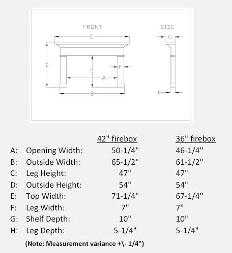 Travertino Arch Stone Mantel Specifications