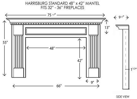 48x42harrisburg Jpg 54x42harrisburg Standard Dimensions