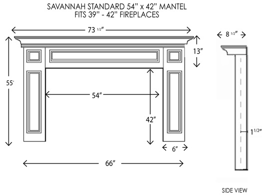 Our Savannah Fireplace Mantel Surround embodies timeless styling and ships quickly.