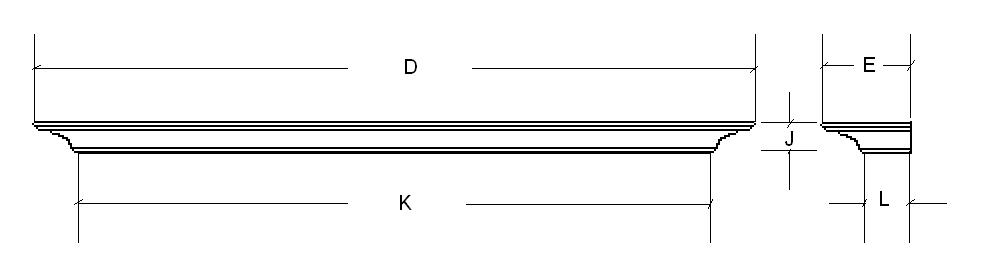 Cornell Mantel Shelf Dimension Guide