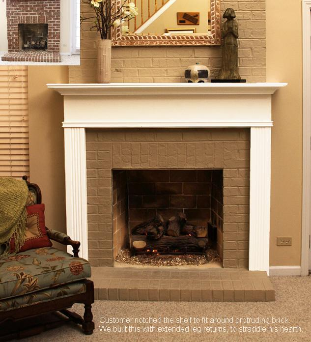 Facing and hearth the same width | Fireplace Mantel Options