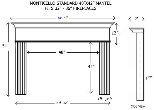 The Monticello Standard Size