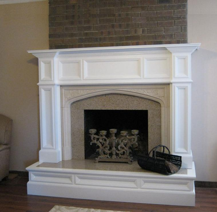How To Build Fire Place Mantel Columns