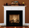 The Danbury fireplace mantel shown in semi gloss white.