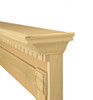 Shown with raised protective edge trim in paint grade unfinished