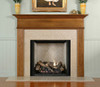 The Monticello Mantel in oak.