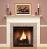 The Sterling mantel shown in semi gloss white.