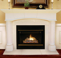 Barton Stone Mantel, facing and hearth