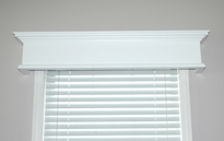 Colony window cornice in semi gloss white