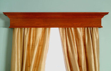 The Plymouth window cornice shown in cherry.