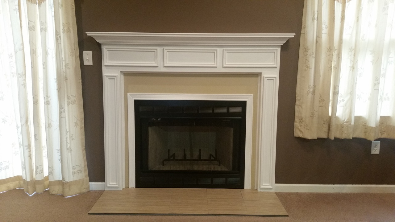 new styles 9c0cf 68502 Danbury Wood Fireplace Mantel Standard Sizes