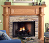 The Charleston fireplace mantel shown in oak.