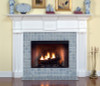 Grecian Dentil and Starburst Appliques are standard on this Colonial Style Fireplace Mantel