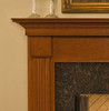 The Franciscan mantel shown in cherry.