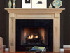 The Harrisburg mantel in maple with a natural finish.