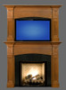 Hartford overmantel with tv.