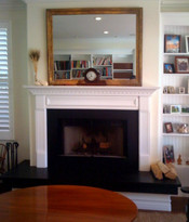 This fireplace mantel was a key part of this room remodel